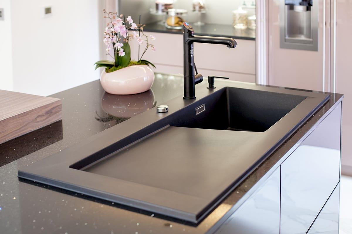 Zip Tap Blanco Silgranit sink Soap Dispenser - John Willox Kitchen Design, Ellon